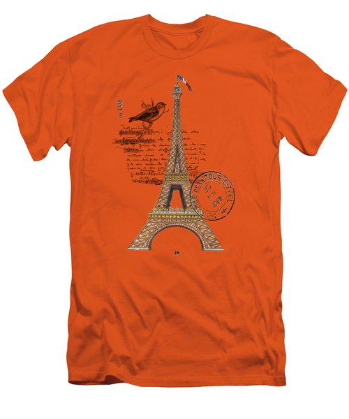 Eiffel Tower T Shirt Design Men's T-Shirt (Slim Fit) by Bellesouth Studio