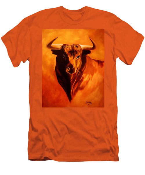 El Toro Men's T-Shirt (Slim Fit) by Manuel Sanchez