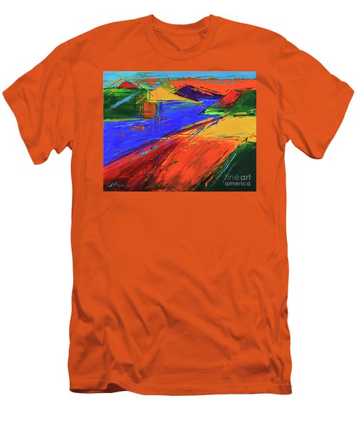 Electric Color Men's T-Shirt (Slim Fit) by Jeanette French