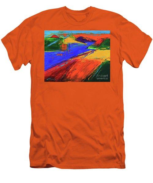 Electric Color Men's T-Shirt (Athletic Fit)