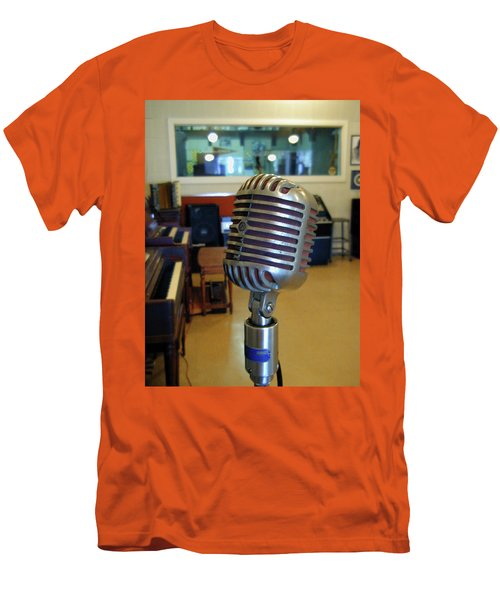 Men's T-Shirt (Athletic Fit) featuring the photograph Elvis Presley Microphone by Mark Czerniec