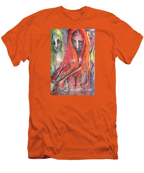 Emerging Reminders In Swamp Vapor Men's T-Shirt (Slim Fit) by Kenneth Agnello