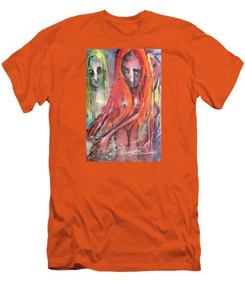 Emerging Reminders In Swamp Vapor Men's T-Shirt (Athletic Fit)
