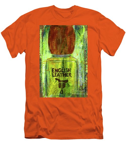 Men's T-Shirt (Slim Fit) featuring the painting English Leather by P J Lewis