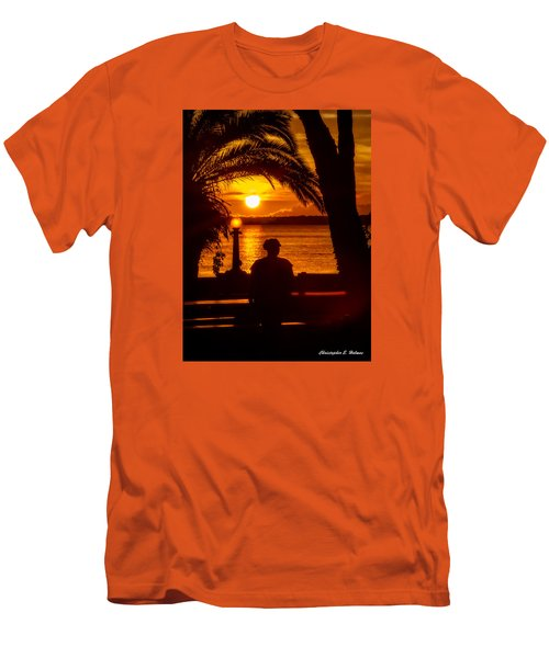 Men's T-Shirt (Slim Fit) featuring the photograph Eustis Sunset by Christopher Holmes