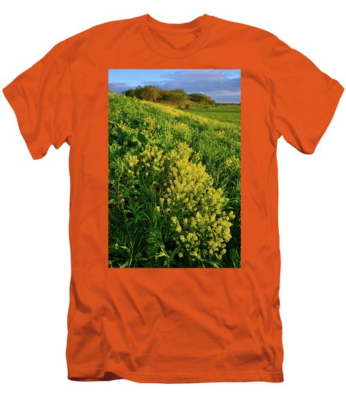 Evening At Glacial Park In Mchenry County Illinois Men's T-Shirt (Athletic Fit)