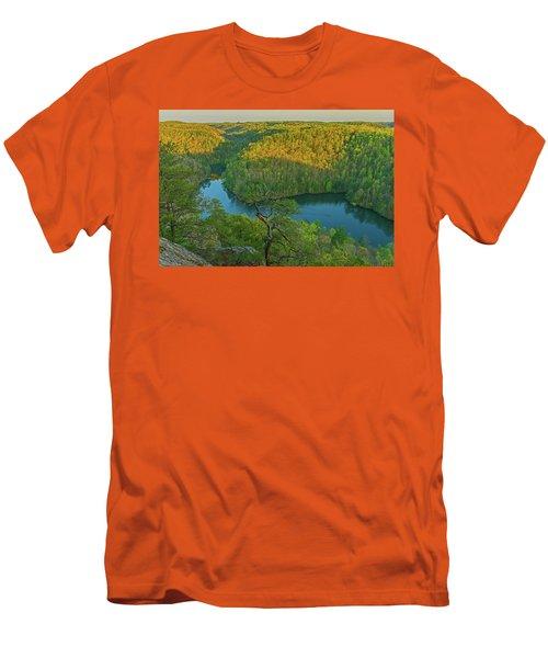 Evening Light In The Hills. Men's T-Shirt (Slim Fit) by Ulrich Burkhalter