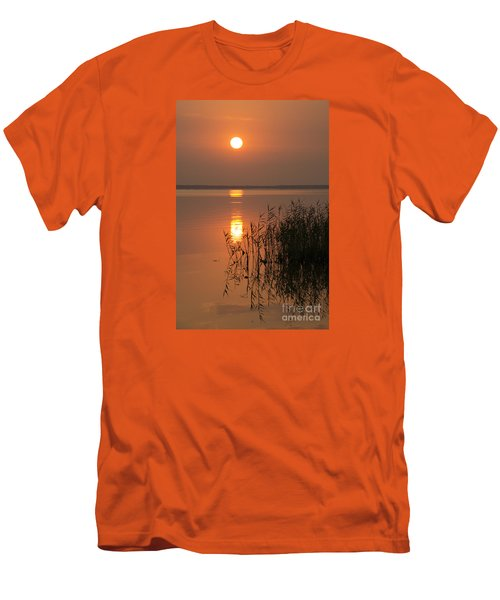 Men's T-Shirt (Slim Fit) featuring the photograph Evening Reflections by Inge Riis McDonald