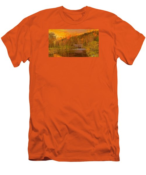 Men's T-Shirt (Slim Fit) featuring the digital art Evening Shadows II by John Selmer Sr