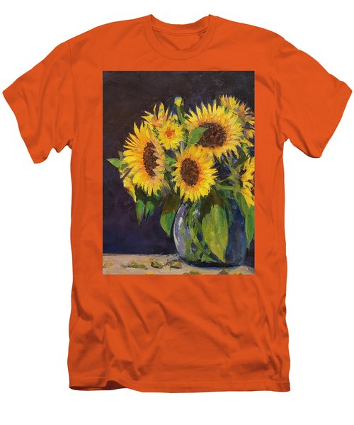 Evening Table Sun Flowers Men's T-Shirt (Athletic Fit)