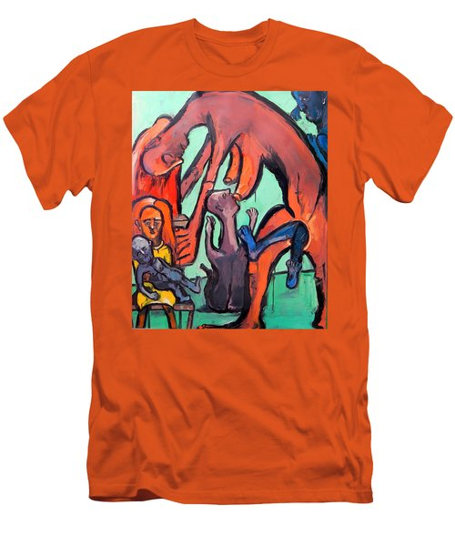Evolution Stuck - Fertility Men's T-Shirt (Slim Fit) by Kenneth Agnello