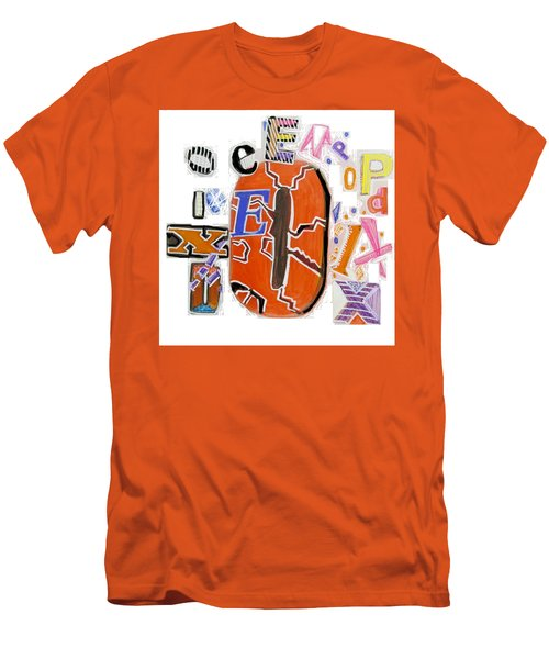 Men's T-Shirt (Slim Fit) featuring the painting Explode - Tee Shirt Art by Mudiama Kammoh