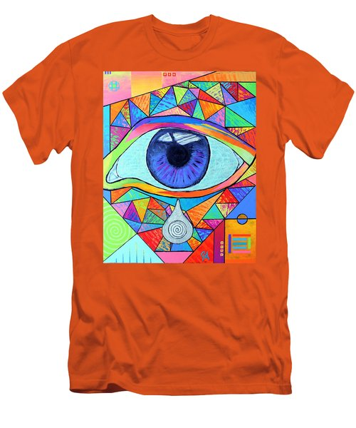 Eye With Silver Tear Men's T-Shirt (Slim Fit) by Jeremy Aiyadurai