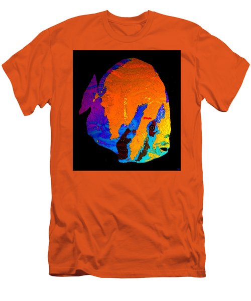 Men's T-Shirt (Slim Fit) featuring the painting Facing The Fish by David Lee Thompson
