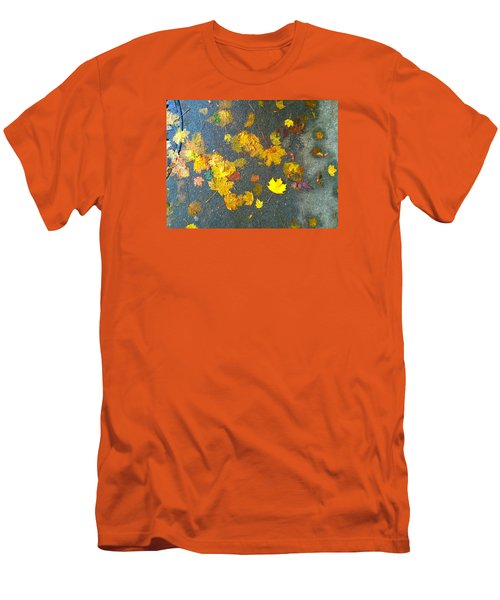 Fading Leaves Men's T-Shirt (Slim Fit) by Suzanne Lorenz