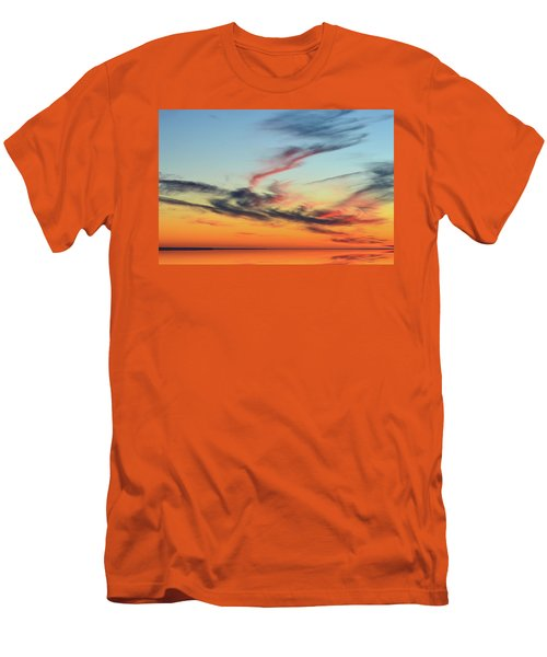 Fading Pink Reflection  Men's T-Shirt (Athletic Fit)