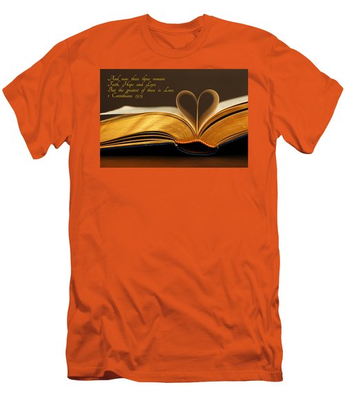 Faith. Hope. Love. Men's T-Shirt (Slim Fit) by Iryna Goodall