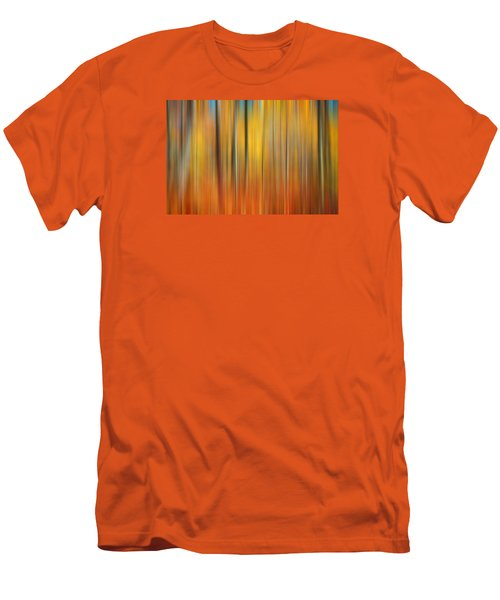 Fall Colors Digital Abstracts Men's T-Shirt (Slim Fit) by Rich Franco