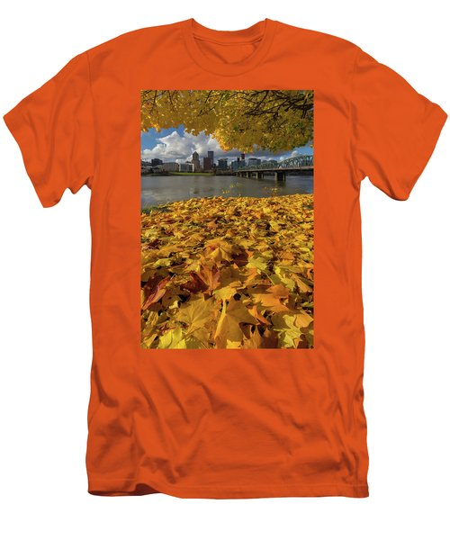 Fall Foliage In Portland Oregon City Men's T-Shirt (Athletic Fit)