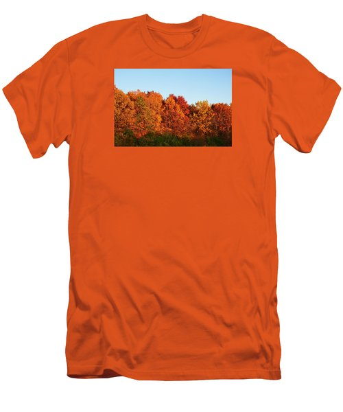 Men's T-Shirt (Slim Fit) featuring the photograph Fall Forest by Nikki McInnes