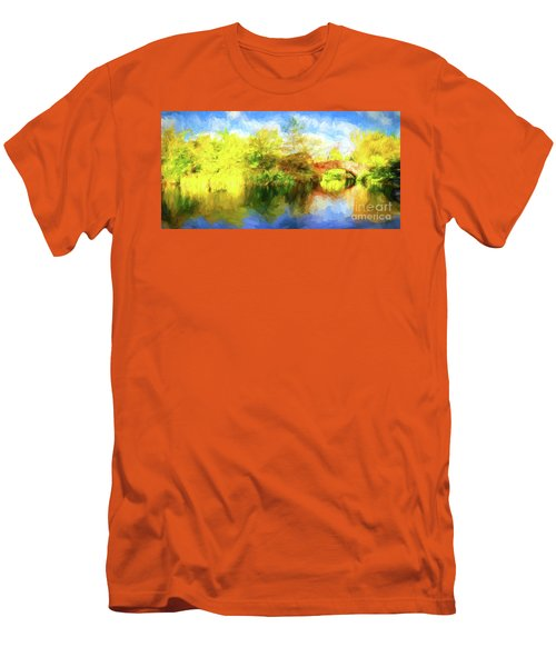 Men's T-Shirt (Slim Fit) featuring the photograph Fall In Central Park by Jim  Hatch