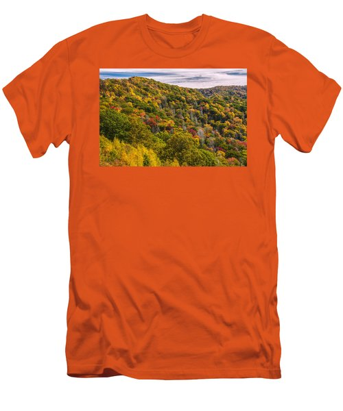 Men's T-Shirt (Slim Fit) featuring the photograph Fall Mountain Side by Tyson Smith