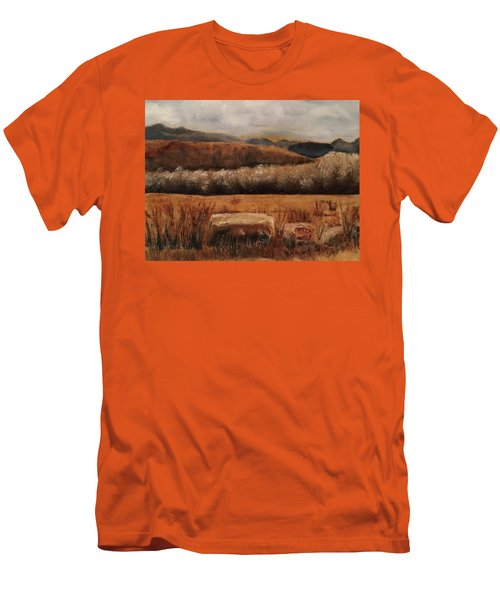 Fall Plains Men's T-Shirt (Slim Fit) by Sharon Schultz