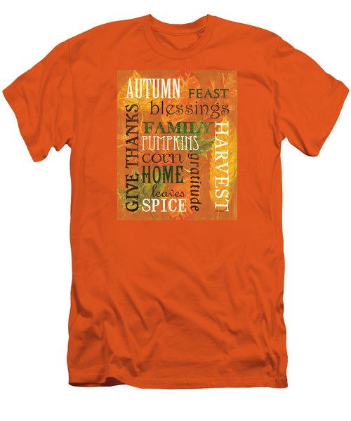 Fall Typography 1 Men's T-Shirt (Athletic Fit)