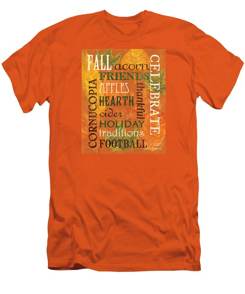 Fall Typography 2 Men's T-Shirt (Athletic Fit)