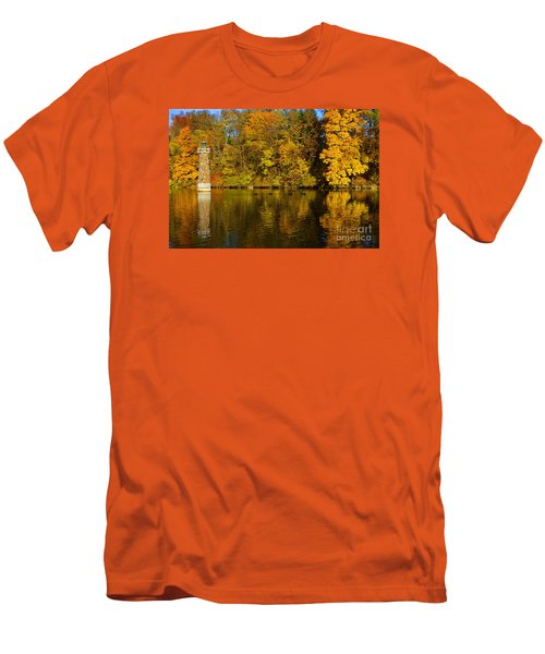 Falls Park Lighthouse In Fall Men's T-Shirt (Athletic Fit)