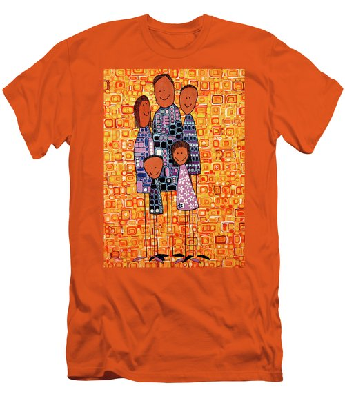 Family Portrait Men's T-Shirt (Slim Fit) by Donna Howard