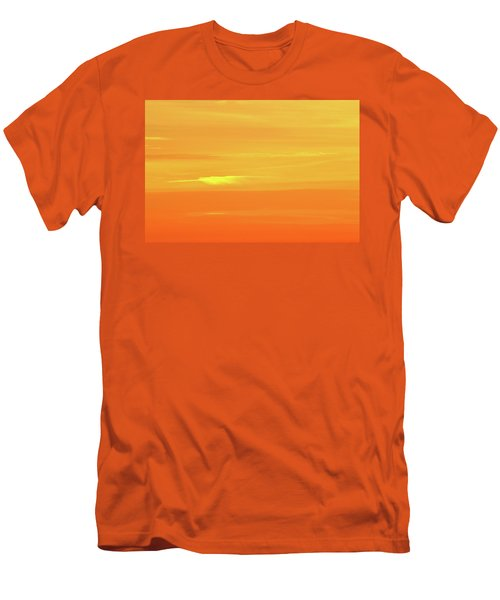 Feather Cloud In An Orange Sky  Men's T-Shirt (Slim Fit) by Lyle Crump