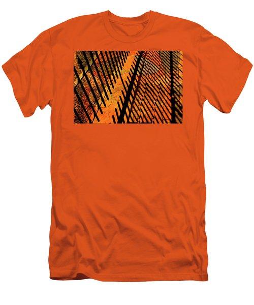 Fenced Framework Men's T-Shirt (Slim Fit) by Don Gradner