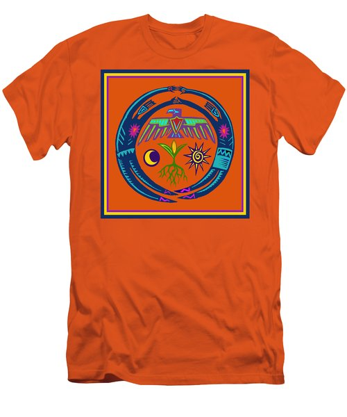 Men's T-Shirt (Slim Fit) featuring the digital art Fertility Dance by Vagabond Folk Art - Virginia Vivier