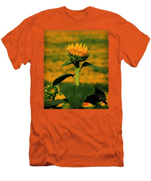 Men's T-Shirt (Slim Fit) featuring the photograph Field Of Gold by Chris Berry