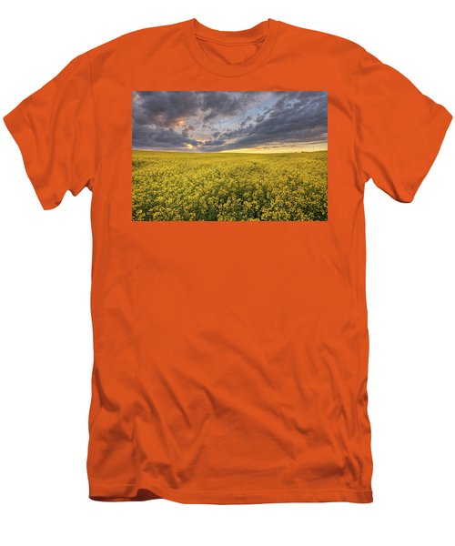 Men's T-Shirt (Slim Fit) featuring the photograph Field Of Gold by Dan Jurak