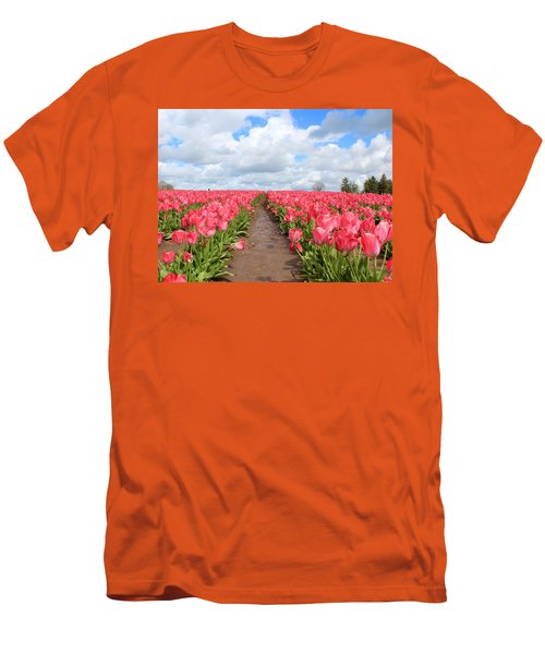 Field Of Pink Men's T-Shirt (Athletic Fit)