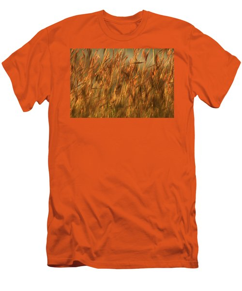 Men's T-Shirt (Slim Fit) featuring the photograph Fields Of Golden Grains by Emanuel Tanjala