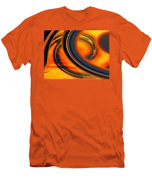 Men's T-Shirt (Slim Fit) featuring the photograph Fiery Celestial Rings  by Shawna Rowe