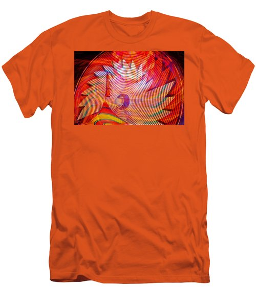Men's T-Shirt (Slim Fit) featuring the photograph Fiery Ferris Wheel by David Lee Thompson