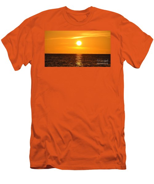 Men's T-Shirt (Slim Fit) featuring the photograph Fiery Sunset by John Black