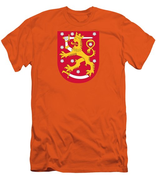 Finland Coat Of Arms Men's T-Shirt (Slim Fit) by Movie Poster Prints