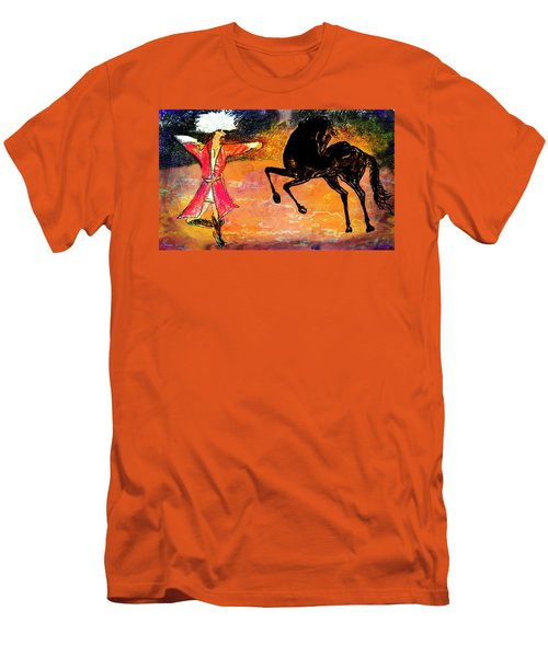 Firat And Shishan Dance I Men's T-Shirt (Slim Fit) by Anastasia Savage Ealy