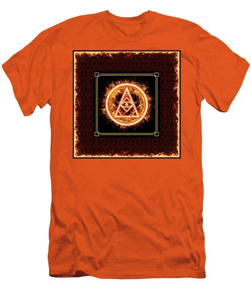 Men's T-Shirt (Athletic Fit) featuring the digital art Fire Emblem Sigil by Shawn Dall
