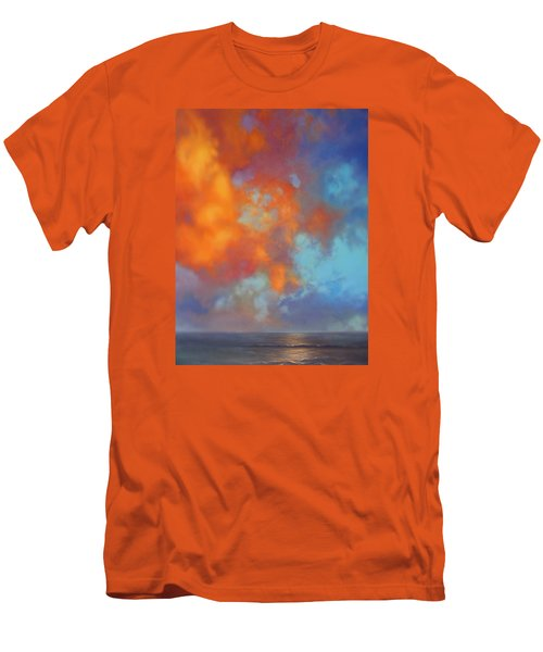 Fire In The Sky Men's T-Shirt (Slim Fit) by Vivien Rhyan