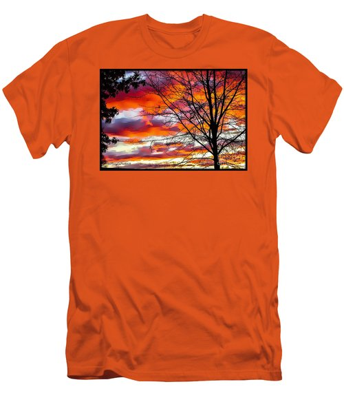 Fire Inthe Sky Men's T-Shirt (Slim Fit) by MaryLee Parker