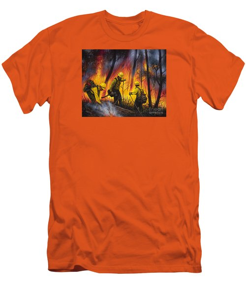 Fire Line 2 Men's T-Shirt (Athletic Fit)