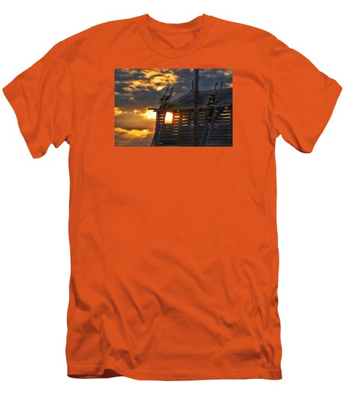 Men's T-Shirt (Slim Fit) featuring the photograph Firefighters In Training by Nikki McInnes