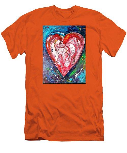 Fireworks Men's T-Shirt (Slim Fit) by Diana Bursztein