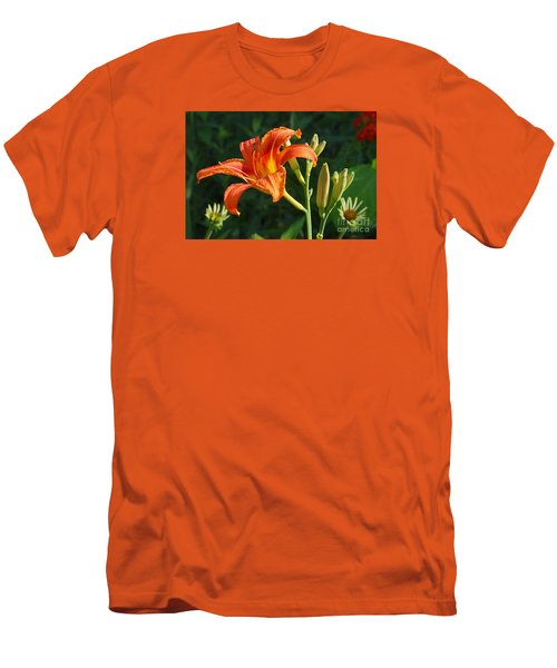 First Flower On This Lily Plant Men's T-Shirt (Slim Fit) by Steve Augustin